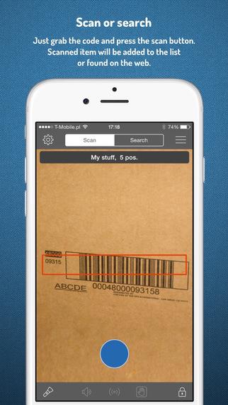 Skaner+ Barcode Scanner QR Code Reader Inventory Data Collector Product Finder Price Checker