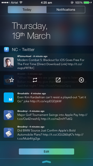 NC – Twitter Widget for Notification Center – 通知中心 Twitter 挂件[iOS]丨反斗限免