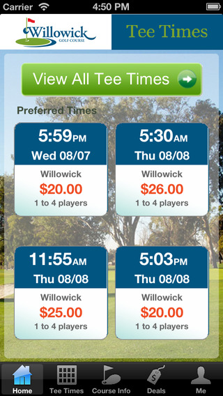Willowick Golf Course Tee Times