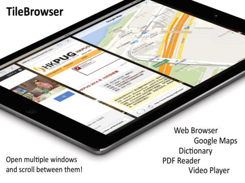 TileBrowser: Multitask browser PDF reader and more