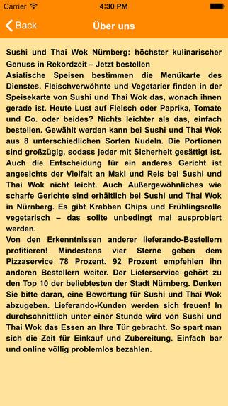 玩免費生活APP|下載Sushi Thai Wok Nuernberg app不用錢|硬是要APP