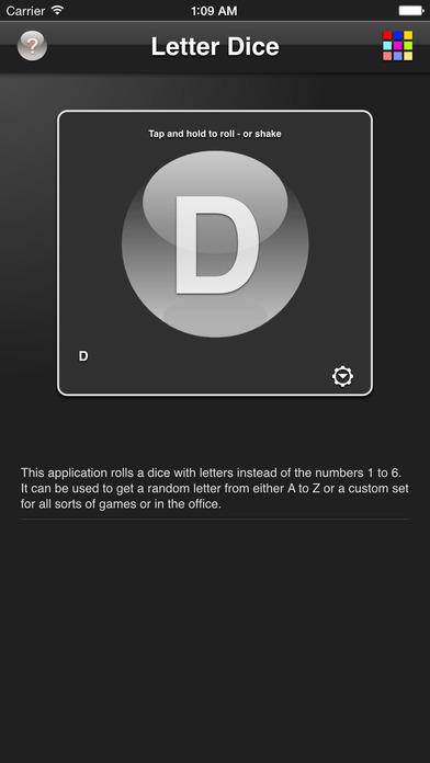 Letter Dice iPhone Screenshot 1