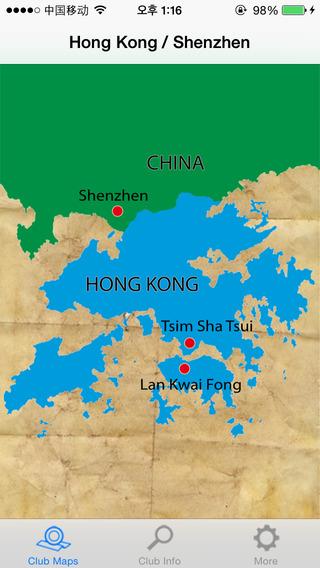 Clubmaps HongKong Shenzhen