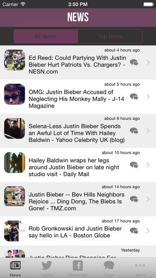My Artist Alerts Premium for Justin Bieber