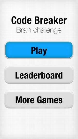 Code Breaker Brain Challenge