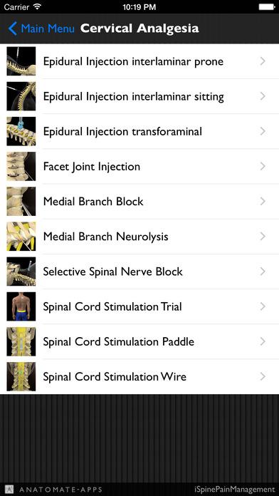 iSpinePainManagement iPhone Screenshot 2