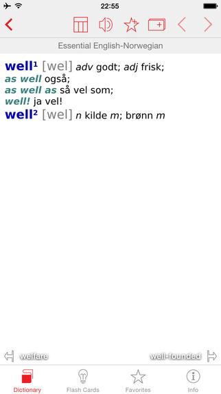 Norwegian - English Berlitz Essential Dictionary