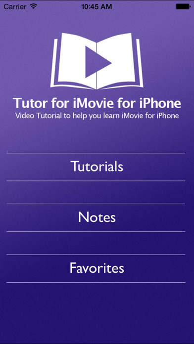 Tutor for iMovie for iPhone/iPod Touch iPhone Screenshot 1