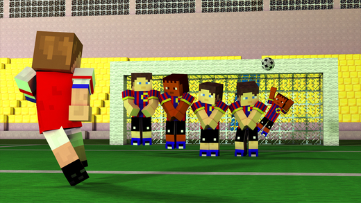 Block Soccer Cup Multiplayer with Minecraft skin exporter