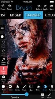 Screenshot #3 for iColorama S - Photo Editor and Brush Painter
