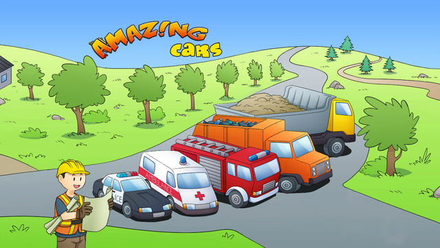 Amazing Cars Free - Interactive Book for Learning Alphabet and Colors