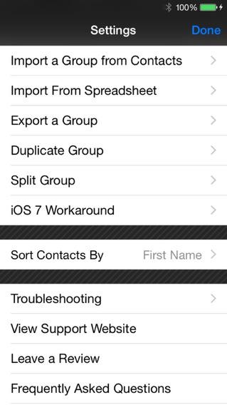 Mass Text Message Basic iPhone Screenshot 5