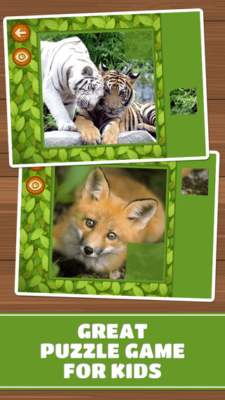 【免費遊戲App】Forest & Jungle Animals Puzzles – Logic Game for Toddlers, Preschool Kids, Little Boys and Girls: Vol.2 Free-APP點子