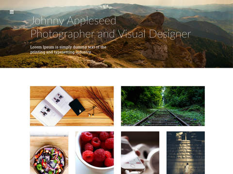 Digital Portfolio - Creative artwork design showcase and portfolio app for iPad