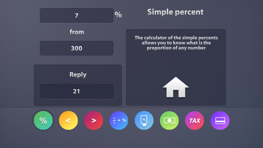 Percentages Calculator App