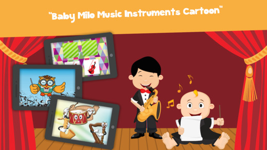 Baby Milo Music Instruments Cartoon