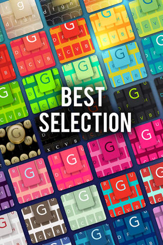 Screenshot 1 Keys on Fleek for iPhone - Customize your keyboard with colorful themes