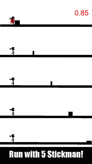 Stickman No Die - Compete with friends in this impossible run
