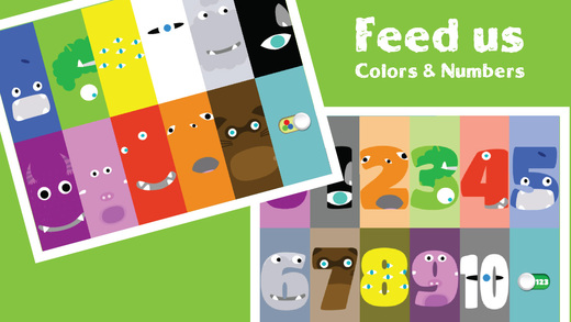 Feed My Monsters Colors and Numbers