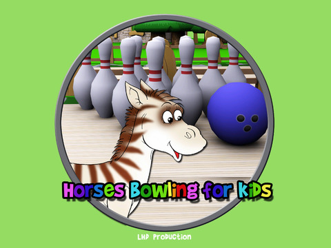 Horse bowling for children vip iPad Screenshot 1