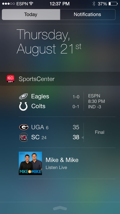 ESPN SportsCenter - iPhone Mobile Analytics and App Store Data