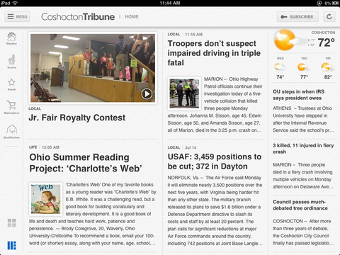 Coshocton Tribune for iPad