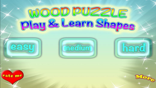 Shapes Wood Puzzle Match Learning Game