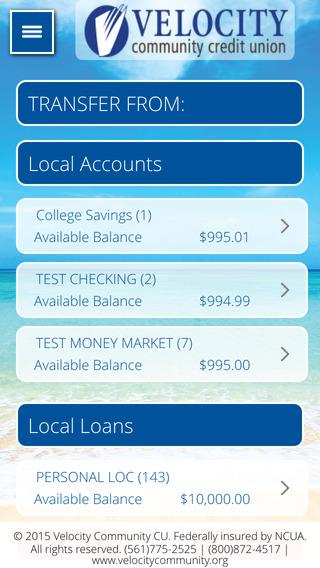 Velocity Community Credit Union Mobile Banking App iPhone Screenshot 3