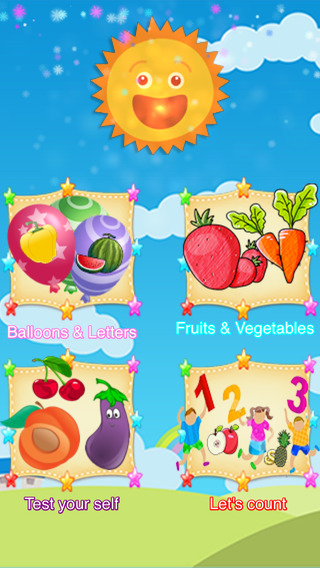 ABC Play And Learn Fruits and Vegetables With Fun And Easy Games For Children And Kids Boys And Girl