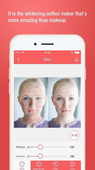 Beautify Cam-remove your face acne and blemish