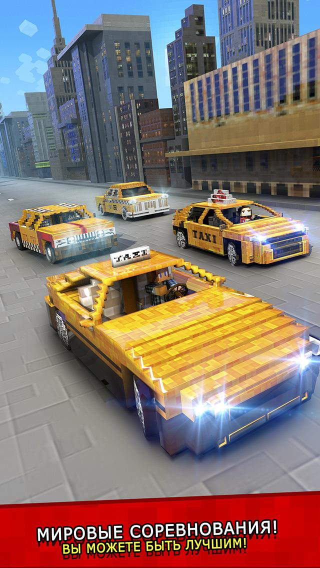 Такси Выживание . Mine бесплатно таксист гонка игры для детей (Taxi Survival) Скриншоты4