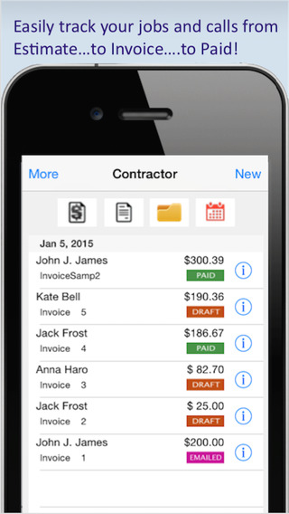 Contractor Estimating Invoicing Tool for All Trades Service Professionals