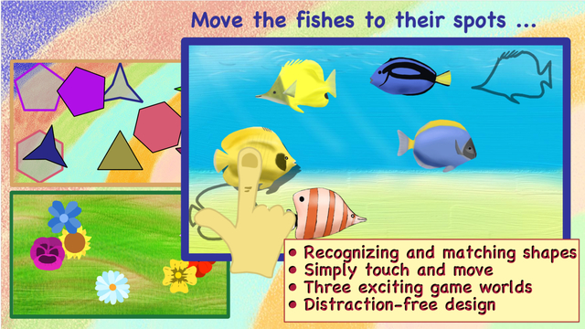 Wiggle Shapes - Touch Move Match For active kids from 3 years