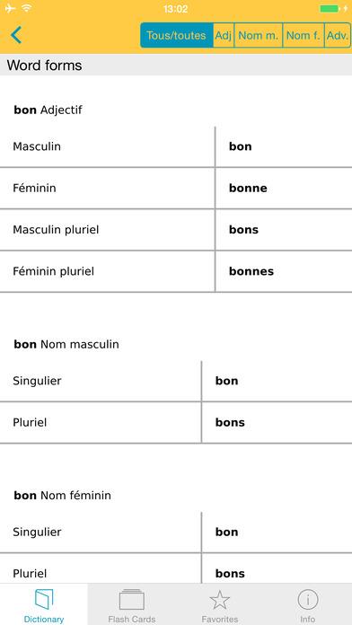 French <-> German Talking Dictionary Langenscheidt Professional iPhone Screenshot 5