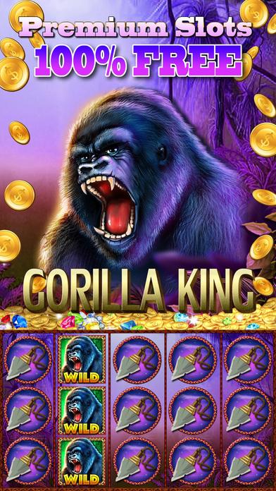 Screenshot 1 Слоты Gorilla King : Джекпот Дом Kong — Fun 777 Лас-Вегас Игровые автоматы