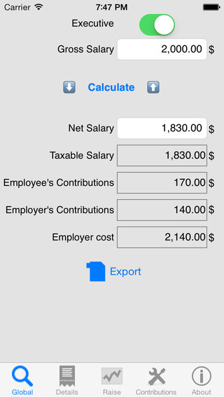 Salary Net Gross Pro evaluate your income