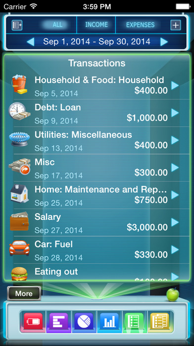 Budgets Free (with Sync) iPhone Screenshot 5