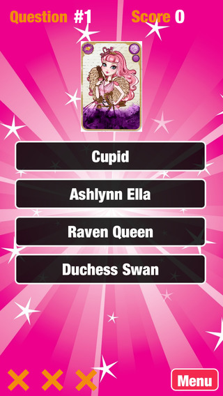 Quiz Game for: Ever After High Edition