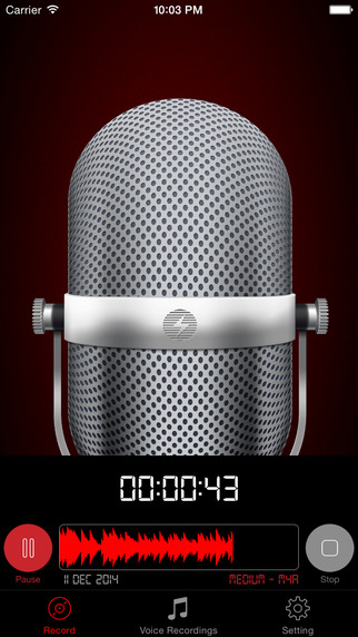 HD Recorder Pro : Professional Audio And Voice Recorder
