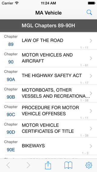 MA Vehicle Code Massachusetts General Laws Statutes