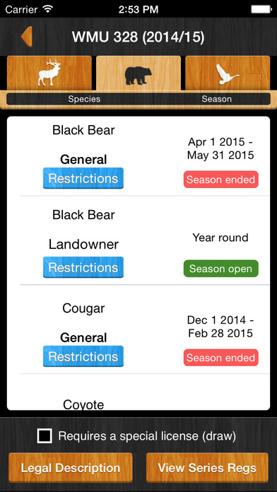 iHunter Alberta Apps free for iPhone/iPad screenshot