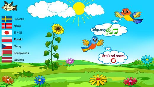 Wesołe zwierzęta - gry dla dzieci - inteligentne poznawcze edukacyjne twórcze gry kaczka ptak żaba ż