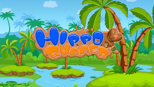 Happy Hippo Jumping Running - Fun Endless Running Game