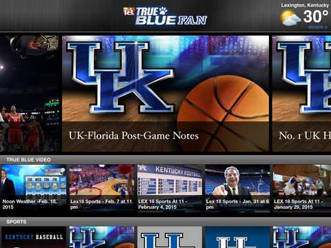 TrueBlueFan iPad Screenshot 1