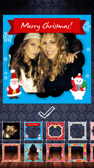 Frame my Christmas photo – your digital Xmas framing editor for pictures and photos