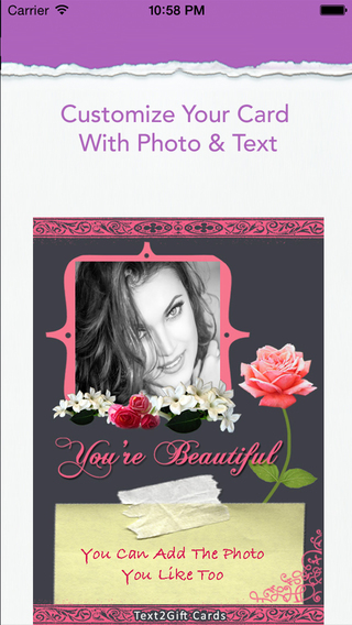 Text2Gift: Send Cards for Love Birthdays and more by SMS Facebook twitter or Whatsapp.