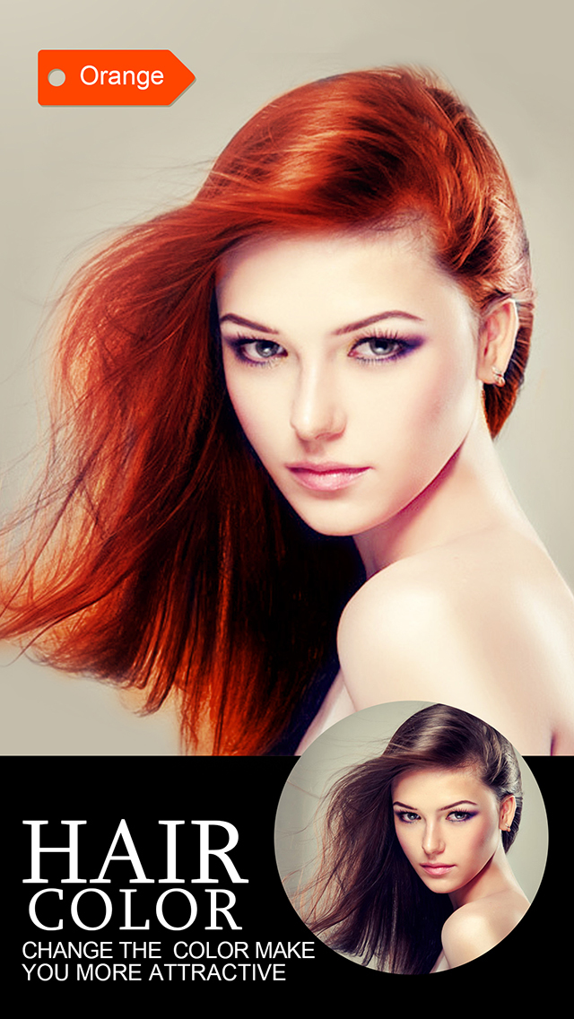 Hair Color Dye  Insta Wig Beautify Splash Effects Photo Editor Booth Ios