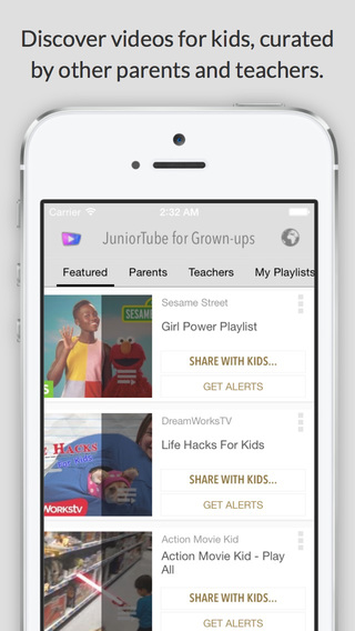 JuniorTube for Parents Teachers - Remote Control of YouTube Videos for Kids