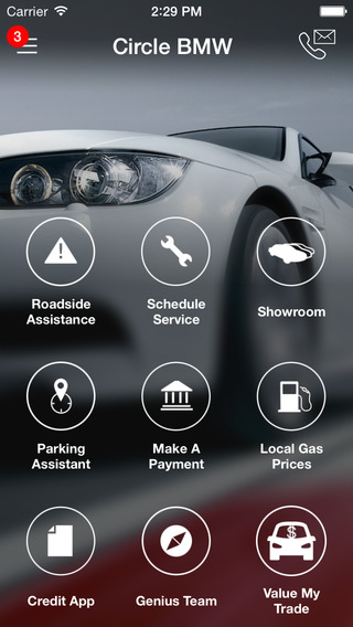 Circle BMW iPhone Screenshot 1