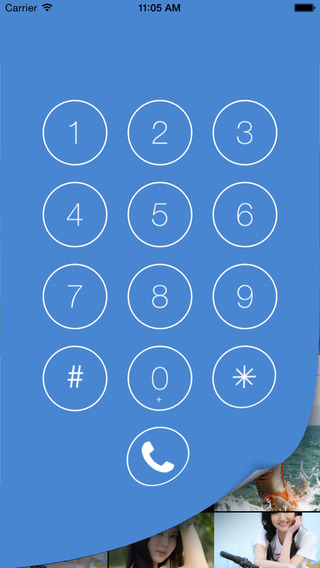 HiPhone - hide personal pictures video behind a dial panel